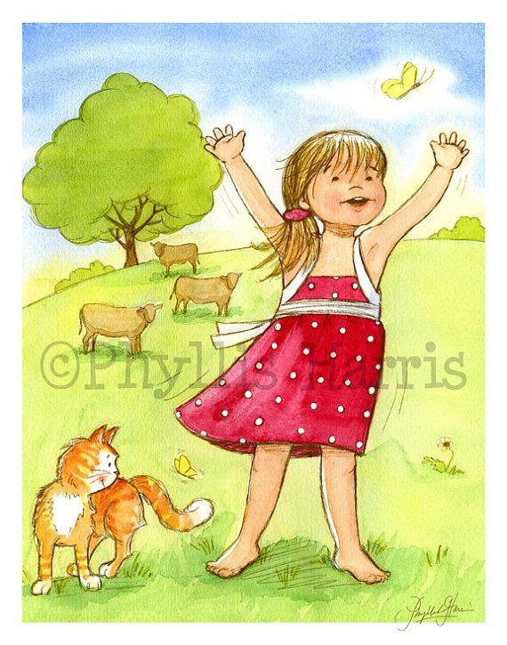 Childrens Wall Art Print - Thankful - Little Girls room art. $24.50 ...