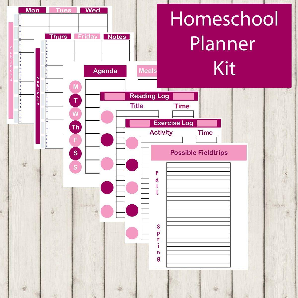 Homeschool Planning Set 4 Homeschool planner, Homeschool
