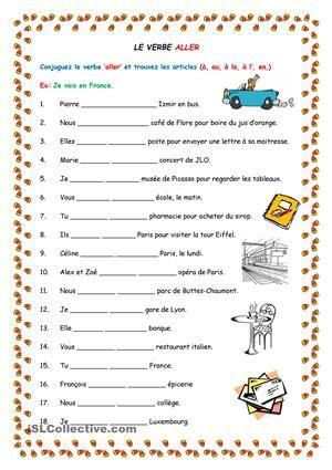 verbe aller google lfh french worksheets gcse french french grammar. Black Bedroom Furniture Sets. Home Design Ideas