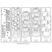 Printable Bookmarks to Color download  print  colour  Pre