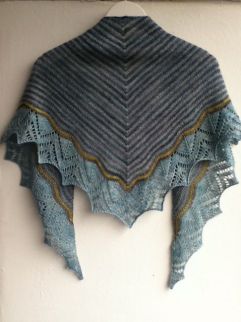 Colorful Shawl Knitting Patterns Knits Crochets Pinterest