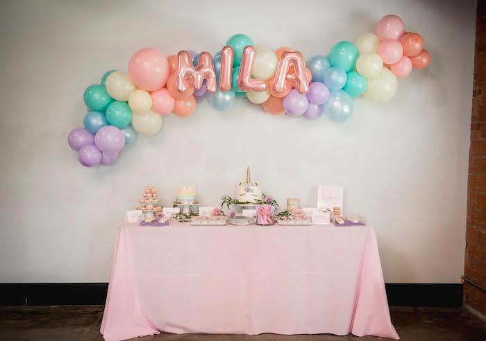 Photo of Rainbow Unicorn Birthday Party | Kara's Party Ideas –  Rainbow Unicorn Birthday …