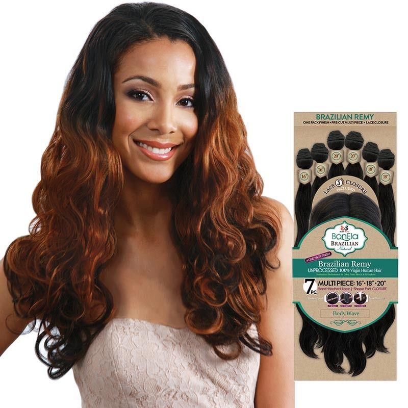 Bobbi Boss Bonela Brazilian Natural Virgin Remi Bundle Hair Weave Body Wave Multi Pack 16