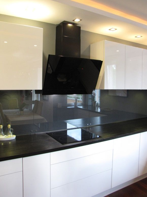 Bialo Czarna Kuchnia Kitchen Room Design Kitchen Interior Design Modern Grey Kitchen Designs