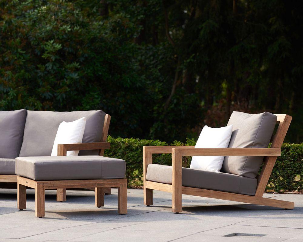 Block loungeset teak tuindingen pinterest meuble for Meuble terrasse exterieur