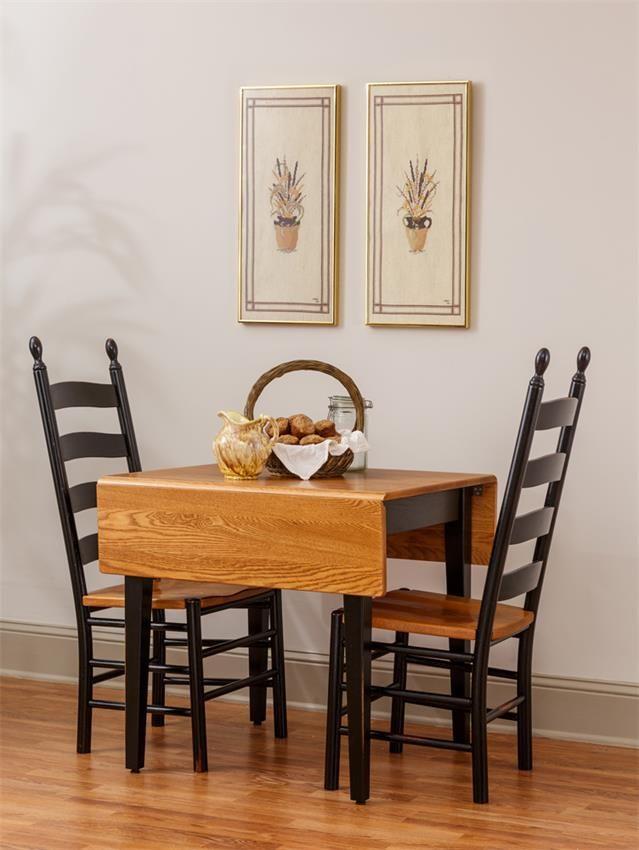 Delightful Amish Rectangular Drop Leaf Dinette Table