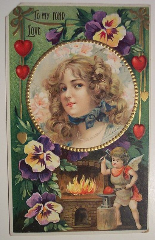 antique valentines google search