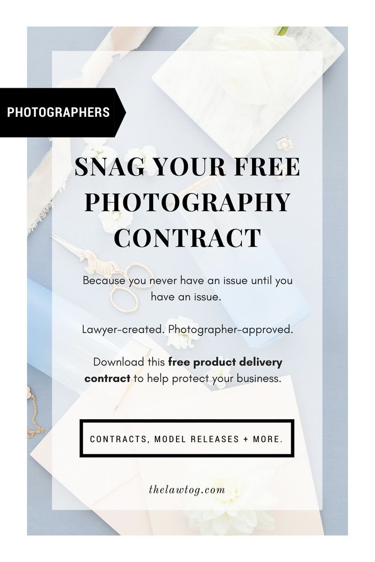 Free Business Contract Download This Free Photography Contract Templatehttpswww .