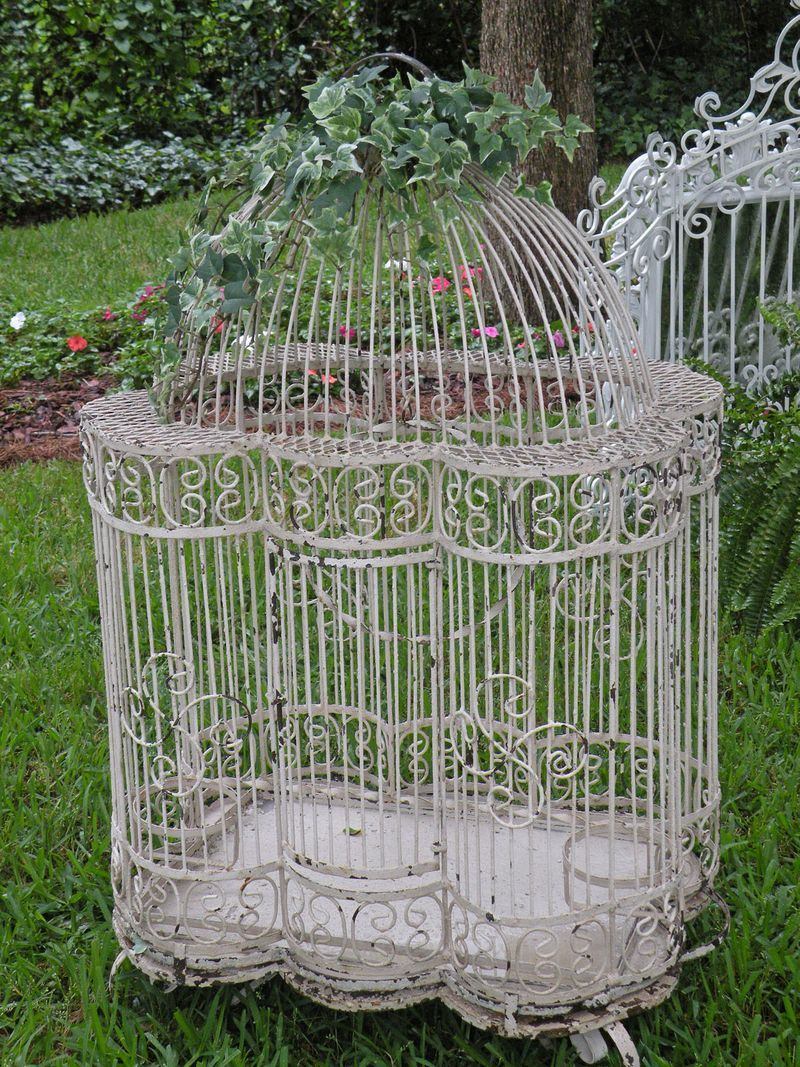White Shabby Chic Birdcage Would Make A Beautiful