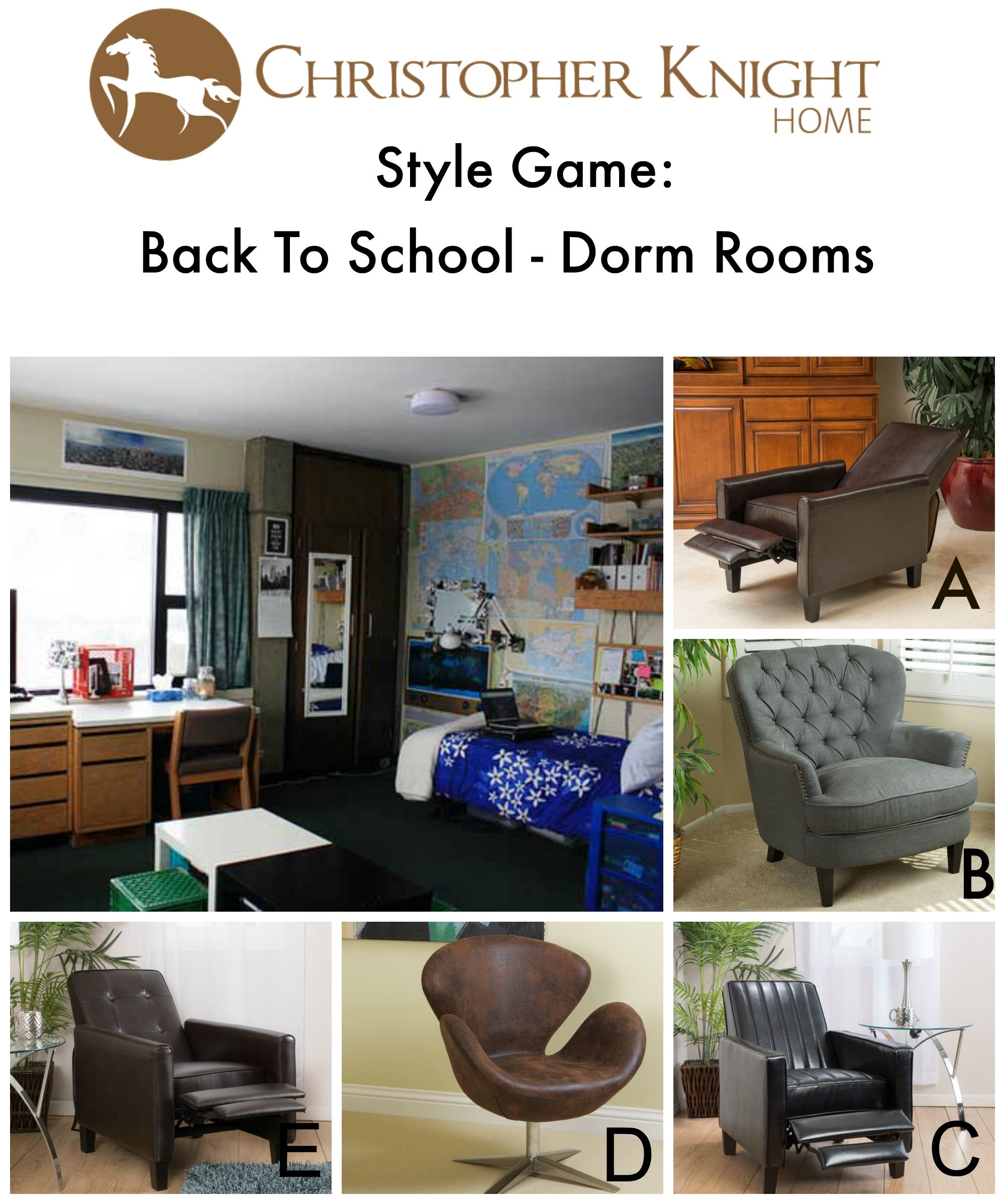 which study chair goes best in this dorm room go to christopher