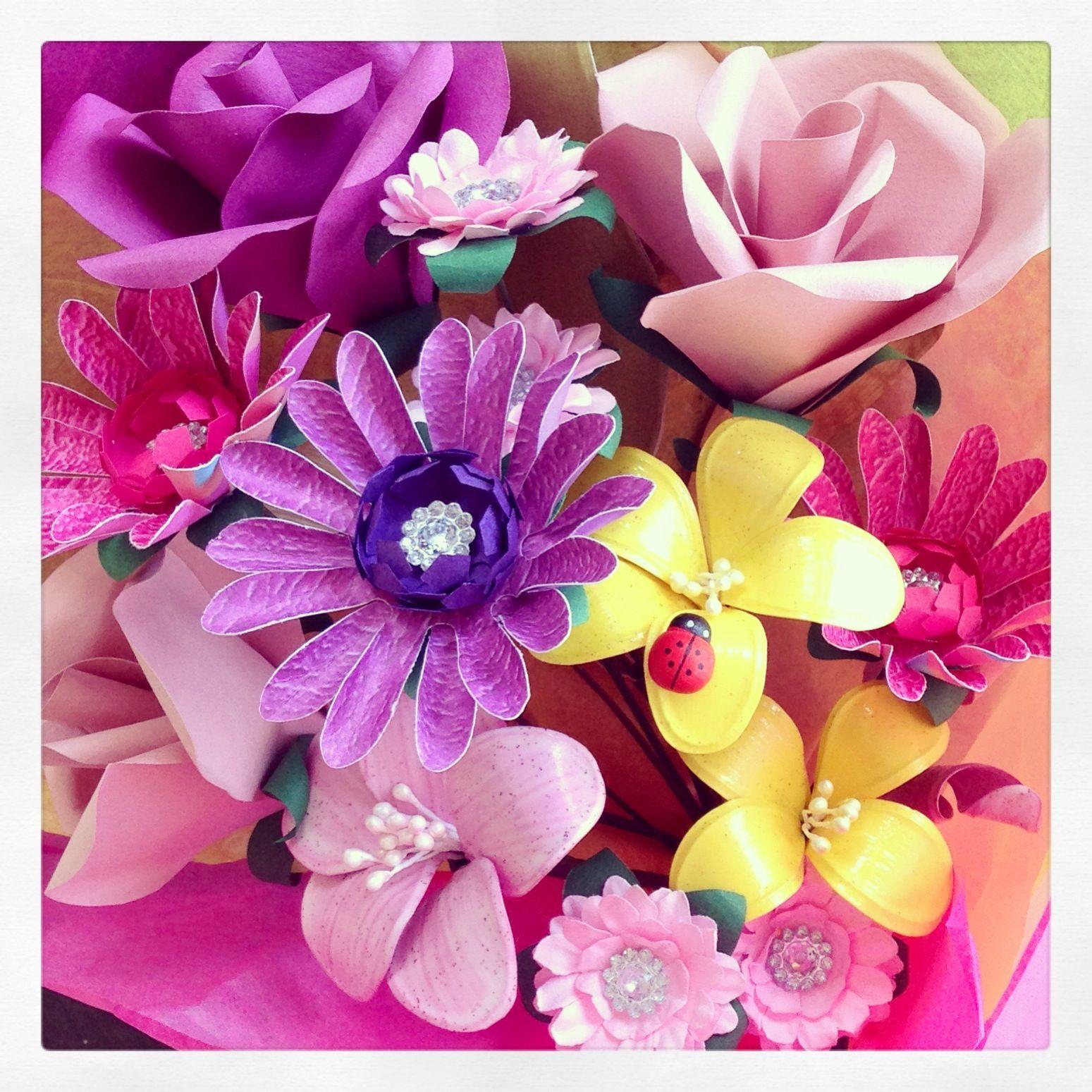 Handmade Paper Flowers Paper Flowers Tutorial Pinterest