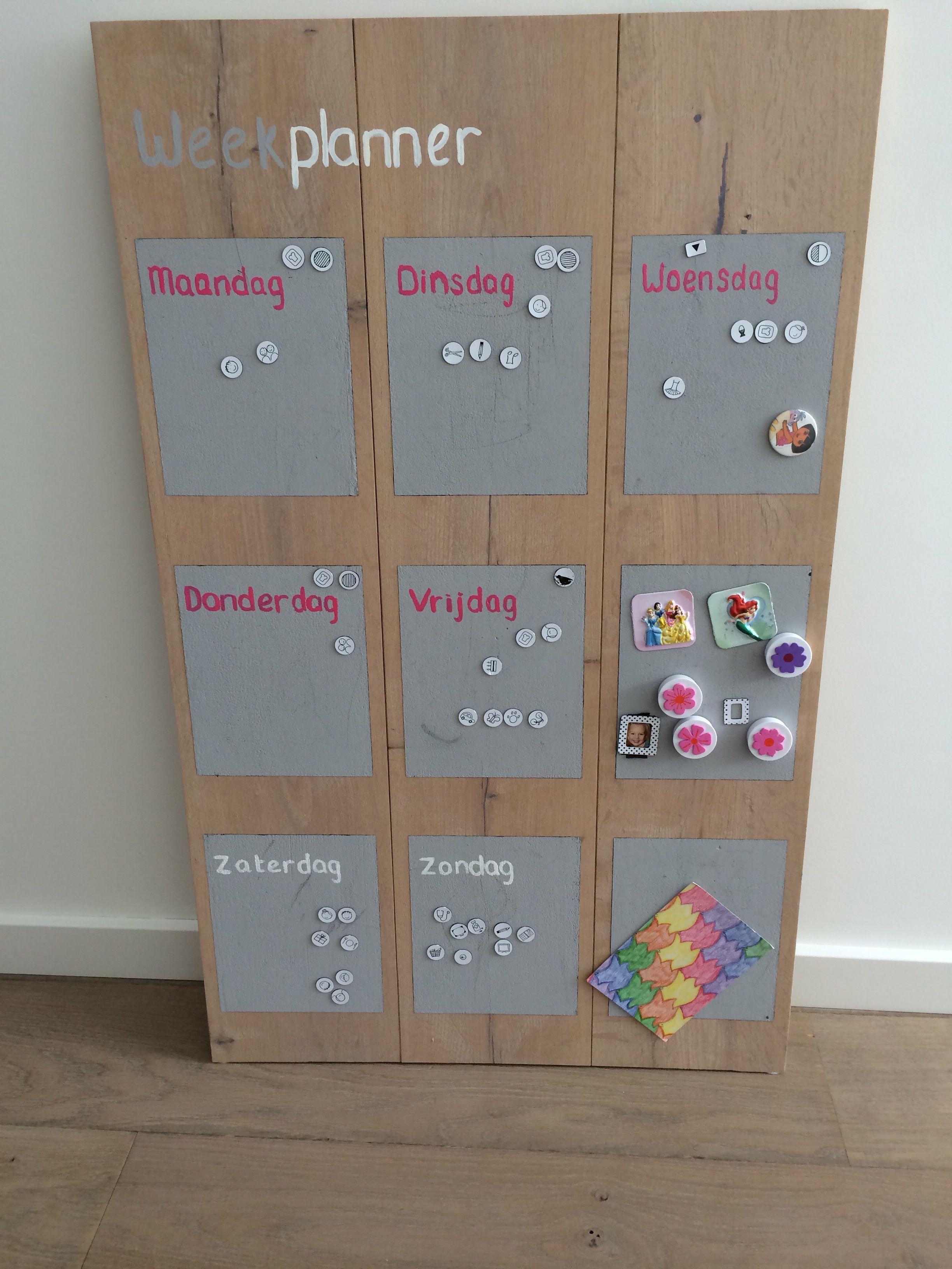 Top Zelf gemaakt planbord - weekplanner | Pinterest - Hout, Doe-het  JY92