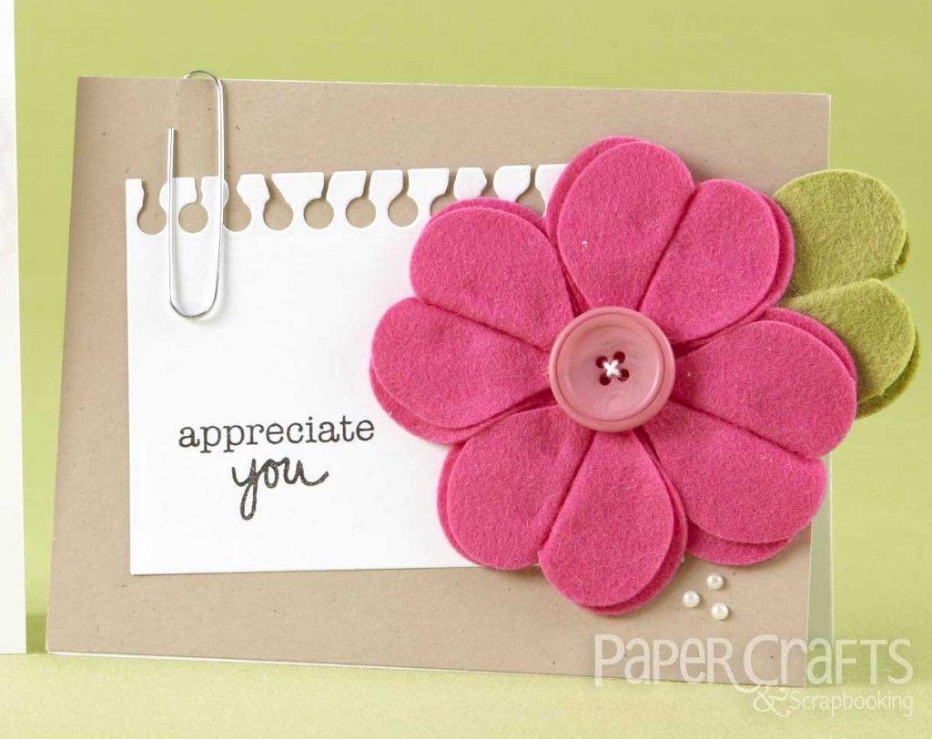 Teri Anderson Handmade Flower Felt Paper Crafts Scrapbooking