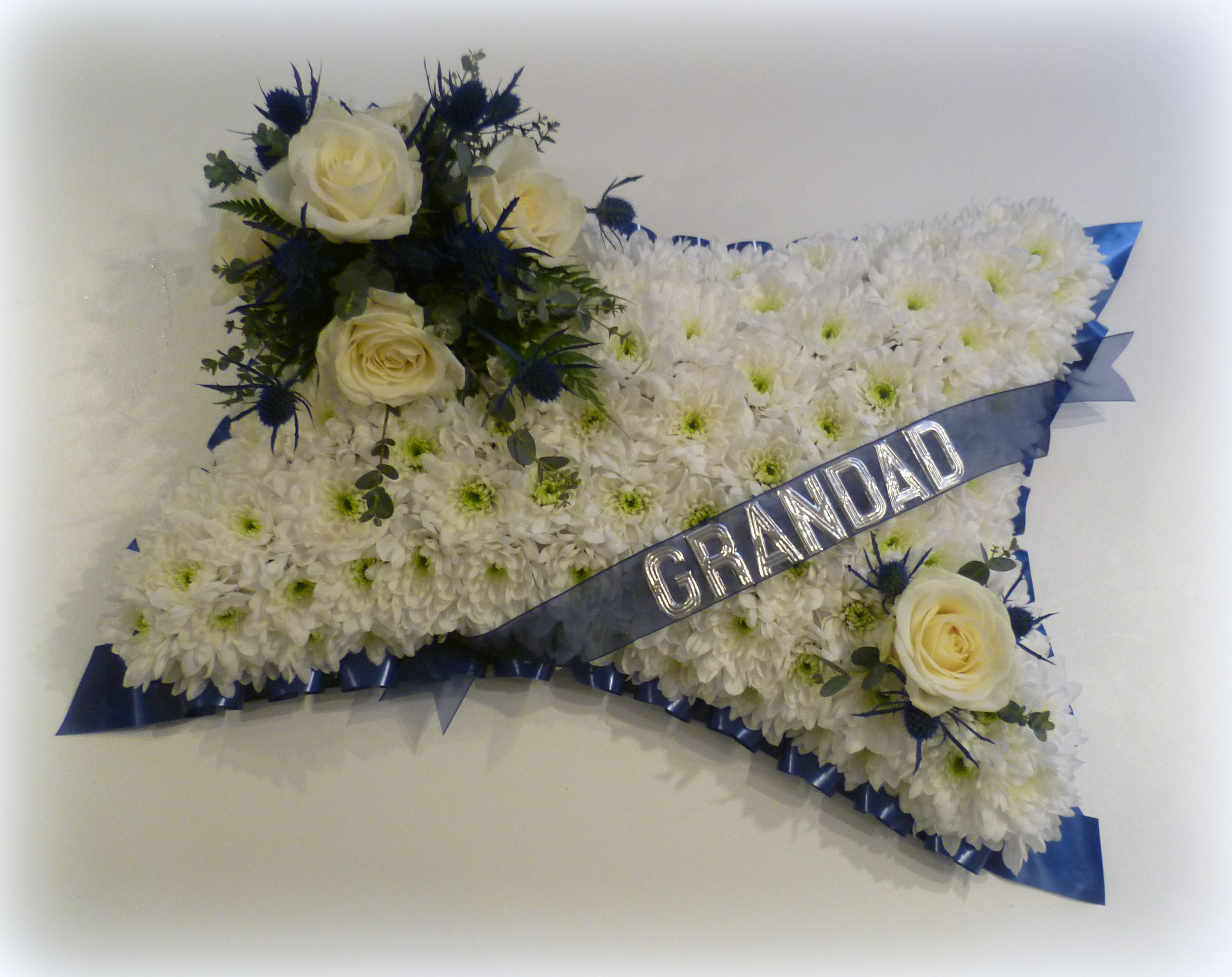 Based pillow floral funeral tribute with grandad wording houghton based pillow floral funeral tribute with grandad wording houghton regis florist izmirmasajfo Gallery