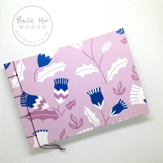Scottish Thistle Blank Book, Journal / Diary / Notebook