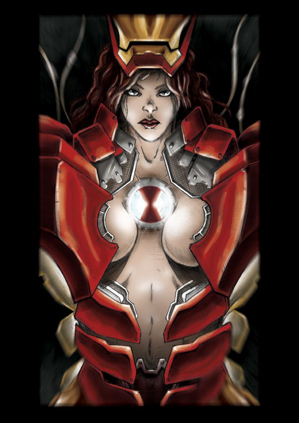 female iron man naked