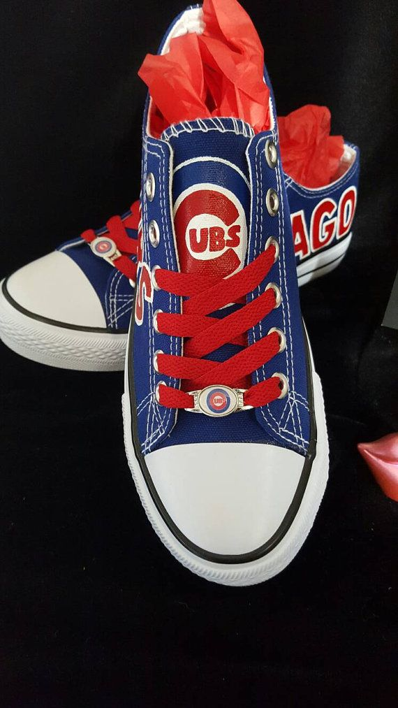 Chicago cubs hand painted fan art shoes by RubyRoseslippers  07b1292b1