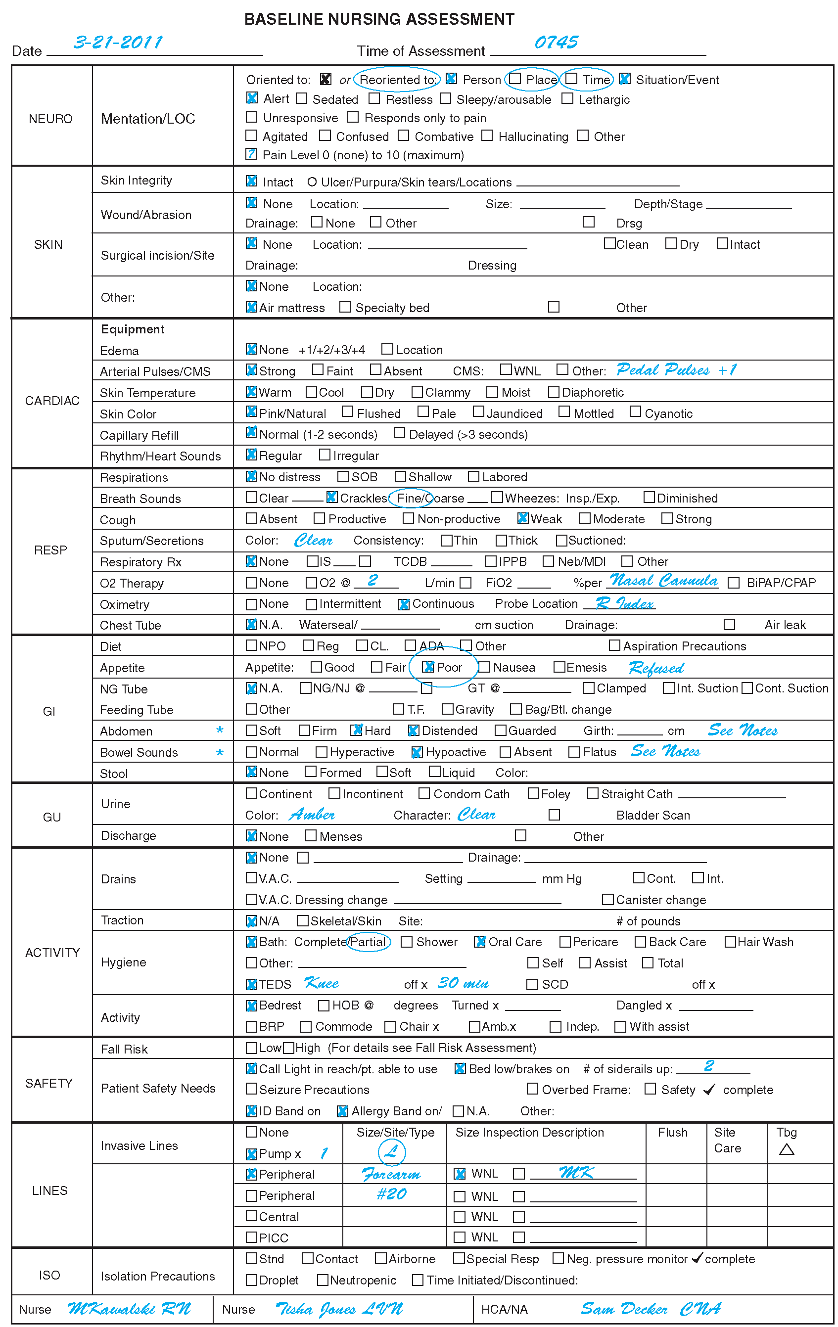 Examples Of Documentation Forms And Formats Nursing