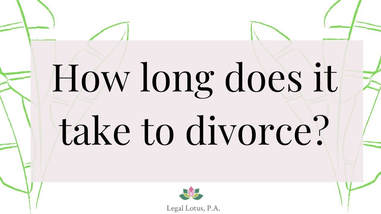 How long does it take to get a divorce in florida