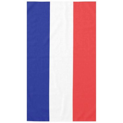 Flag Of France French Tricolore Tablecloth Zazzle Com France Flag Flag French Tricolor