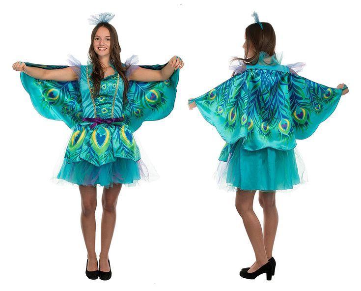 bb583b60dc8ac Trendiges Pfauen-Lady- oder Schmetterlings-Kostüm für Damen. Diese ...