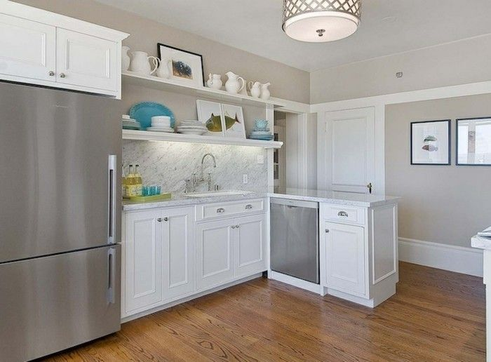 ▷ 61 Vorschläge zum Thema Weiße Küche, wunderbare Gestaltingsideen - wandbilder für küche