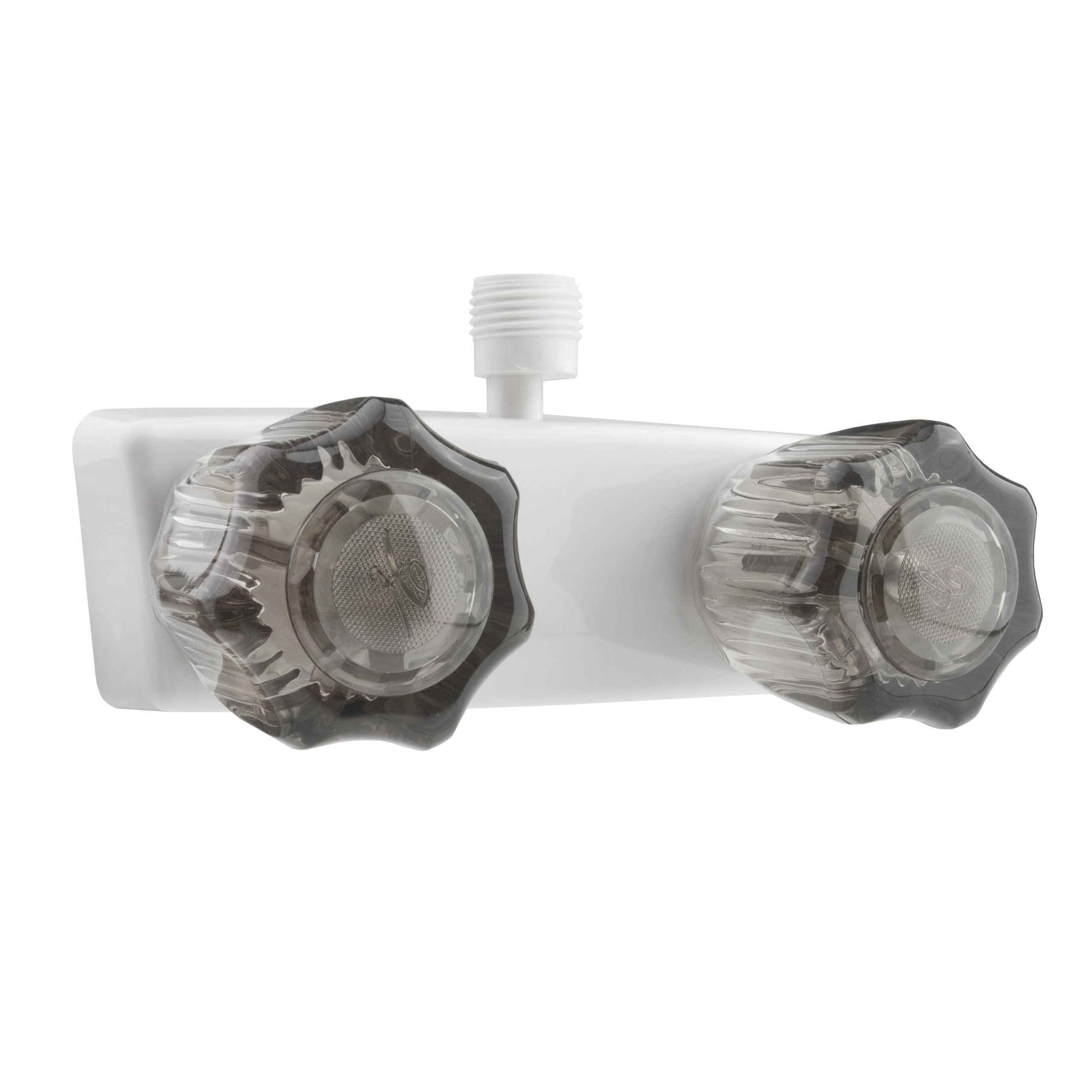 Dura Faucet (DF-SA100S-WT) White RV Shower Faucet Valve Diverter ...