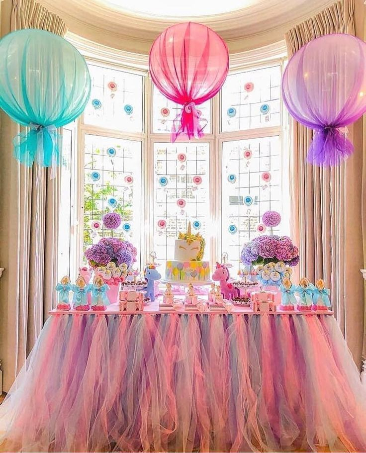 Love the tulle on the helium balloons. Mo