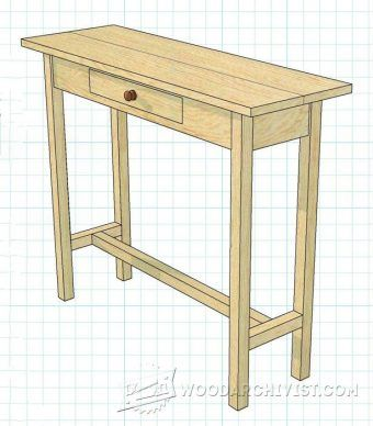 Shaker Hall Table Plans   Furniture Plans And Projects | WoodArchivist.com