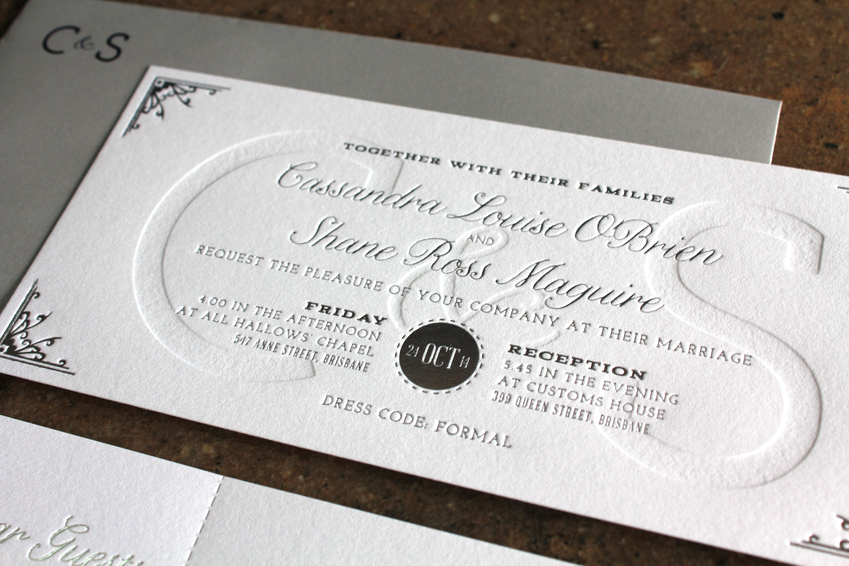 Little Peach - Blind Monogram {Silver Foil} | Wedding ideas ...