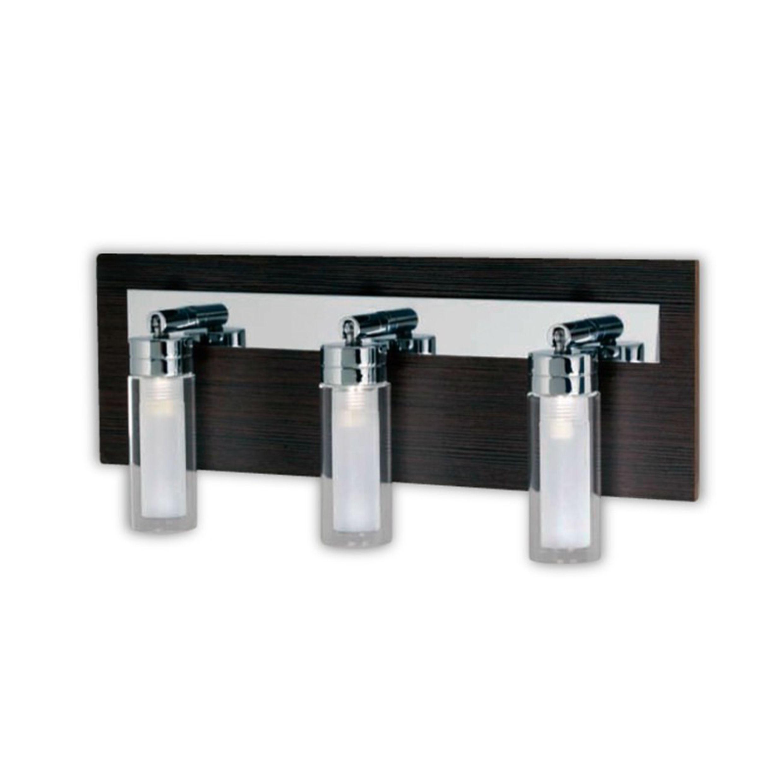 Aplique 3 luces de madera elegi tu cabezal - THR3 Iluminación - Buena Luz, buena vida.