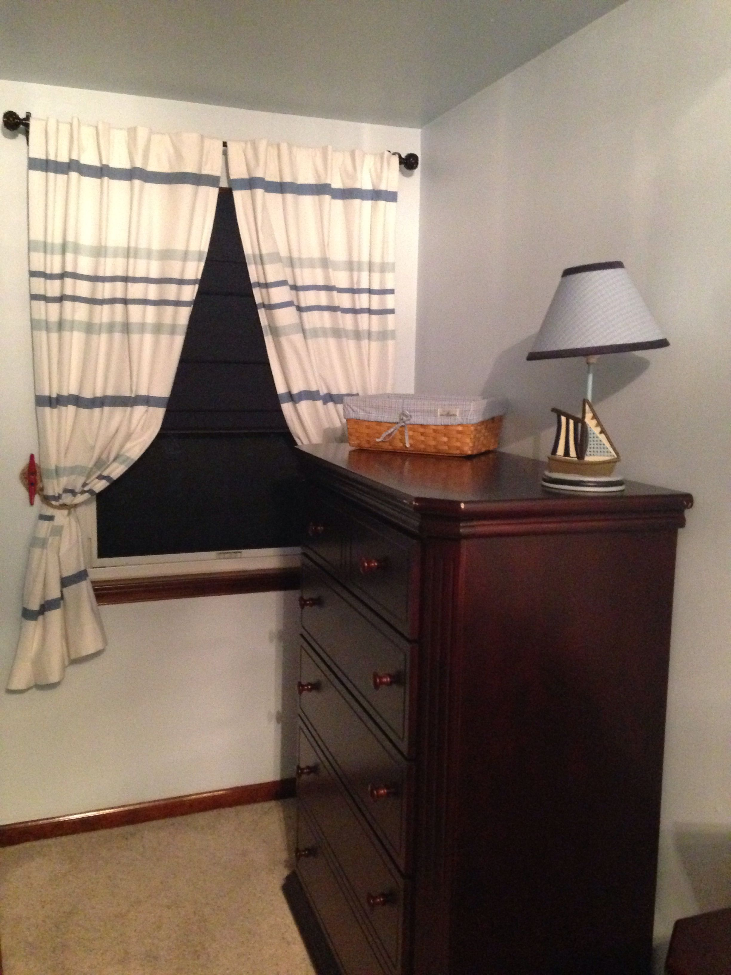 My Nautical Nursery Curtains From Land Of Nod Curtain Tie Back