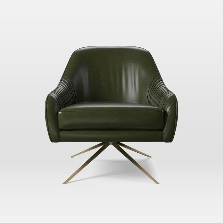 Roar + Rabbit™ Swivel Chair - Leather   Swivel chair, Antique brass  and Playrooms - Roar + Rabbit™ Swivel Chair - Leather Swivel Chair, Antique