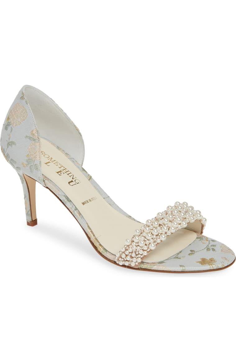 Something Bleu Cappy D Orsay Sandal Women Nordstrom Kitten Heel Wedding Shoes Wedding Shoes Heels Blue Bridal Shoes