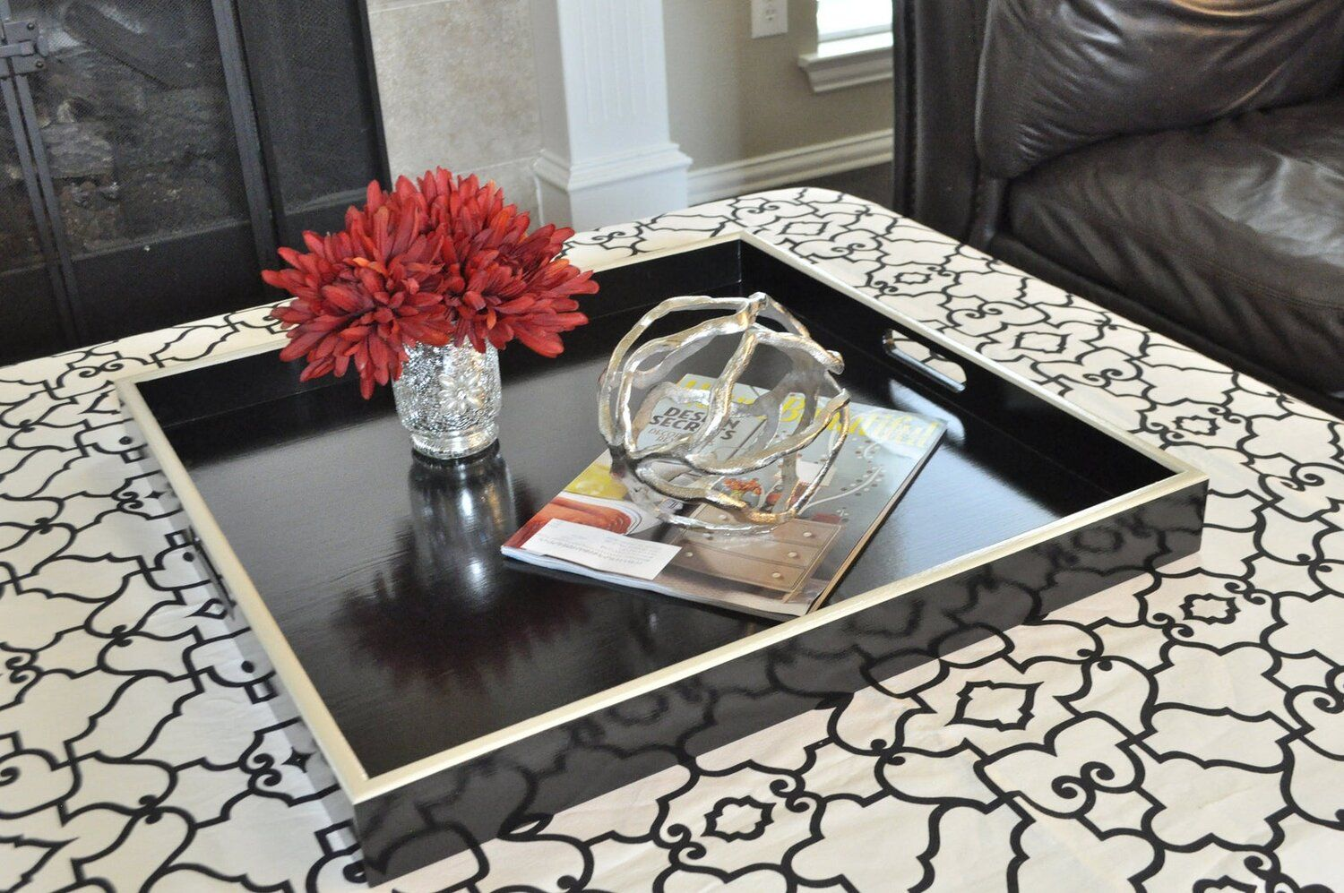 How To Style Round Square Coffee Tables Trim Design Co In 2021 Coffee Table Coffee Table Square Large Ottoman Tray [ 997 x 1500 Pixel ]