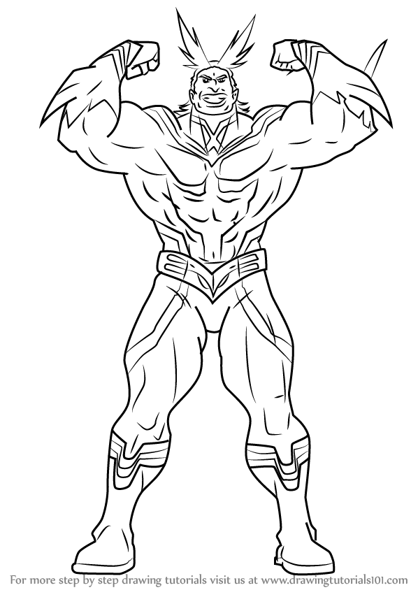 Image Result For All Might Coloring Page Drawings Enchanted Forest Coloring Book Human Anatomy Art