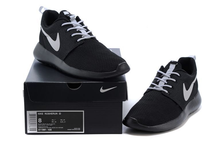 1fefaf5fa4f14 56% off Cheap Womens Nike Roshe Run Id 2015 511881 103 Black Black White