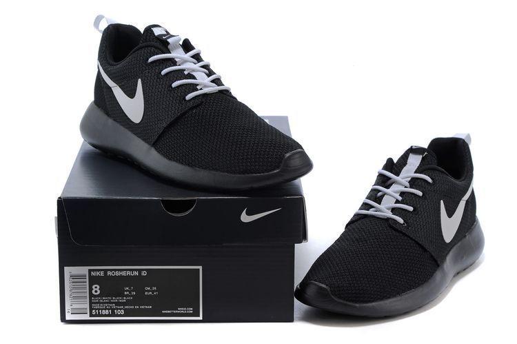 ed3e6bebb7f9 56% off Cheap Womens Nike Roshe Run Id 2015 511881 103 Black Black White