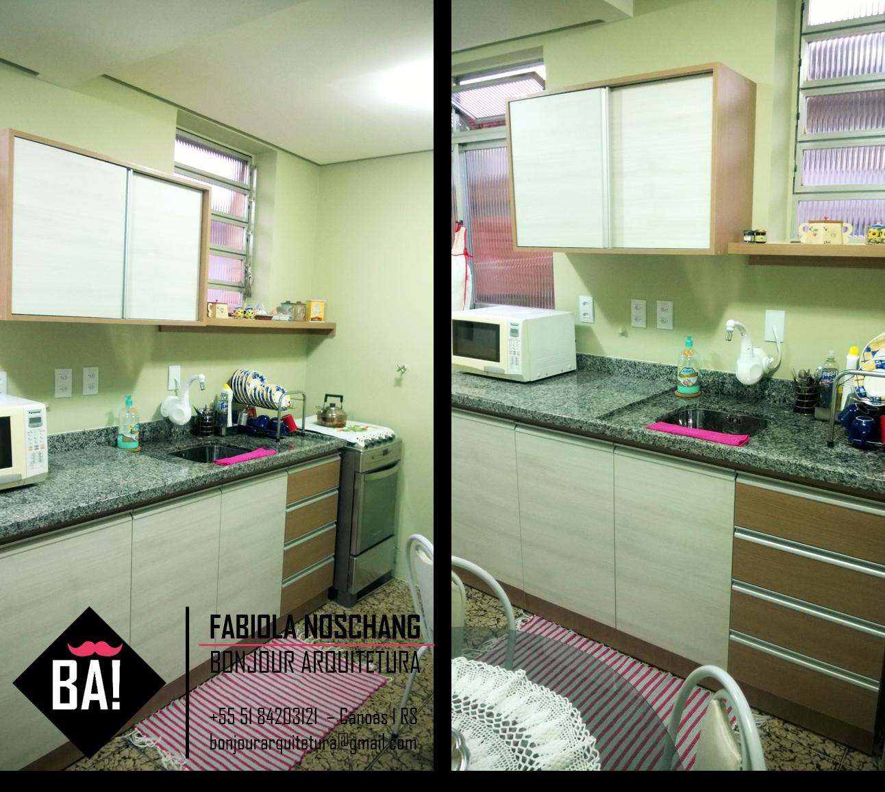 Cozinha Moderna Pequena Cor Branca E Carvalho M Veis Sob Medida