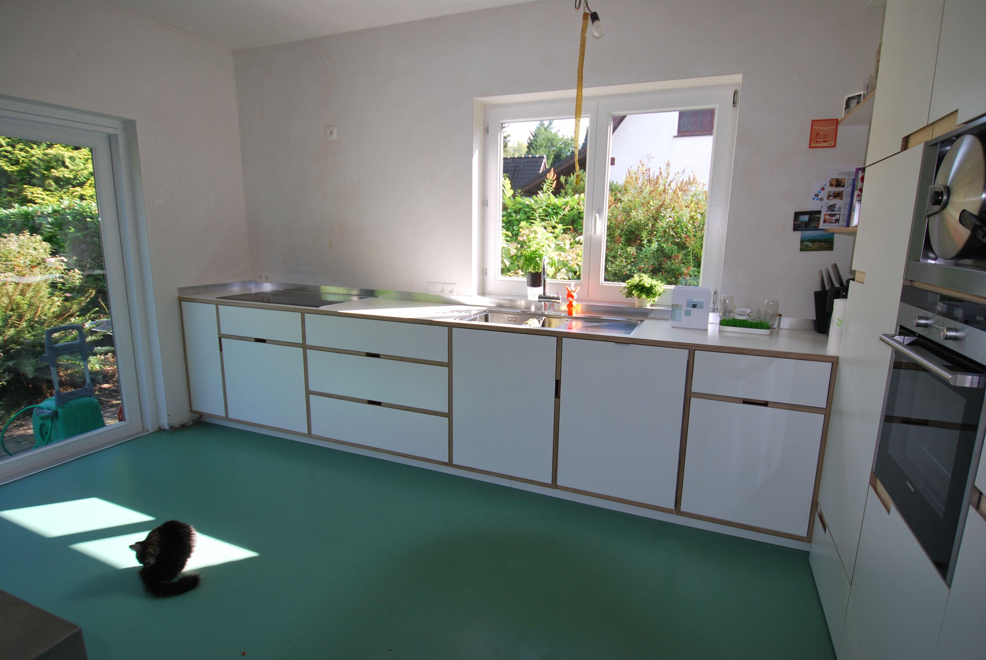 Witte Laminaat Keuken : Keuken in multiplex berk met witte laminaat van houtenmeubel