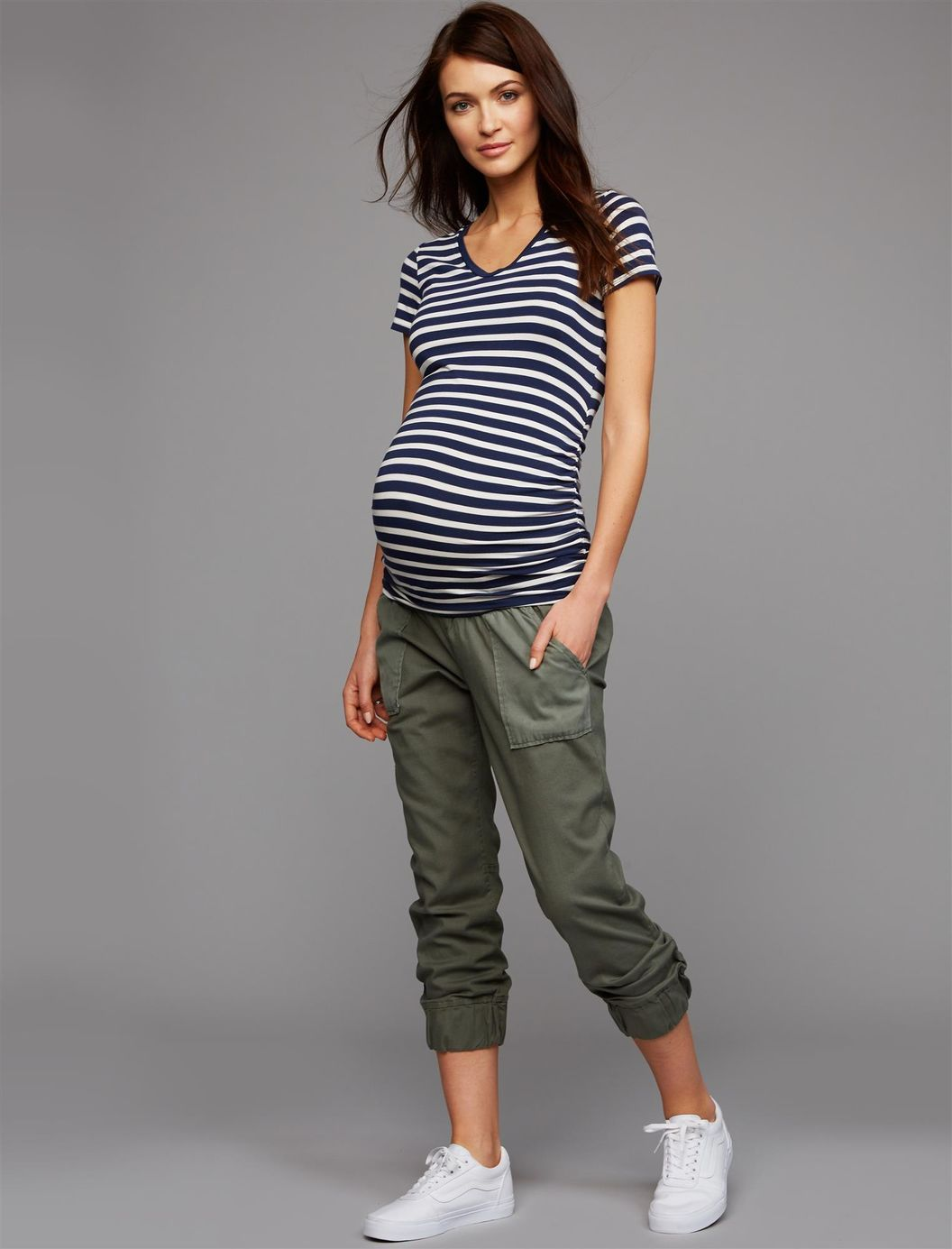 868411c56df9a Under Belly Canvas Jogger Maternity Pants | A Pea in the Pod Maternity