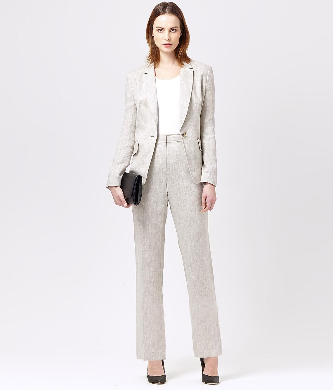 Pure Linen Trouser Suit | Women's Suits | Austin Reed | Richard ...