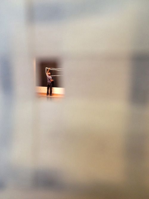 """artspotting:  W. Tucker, peephole to watch the work in progress of Tuckers Exhibition """"to stand in a boat that floats"""", 2012"""