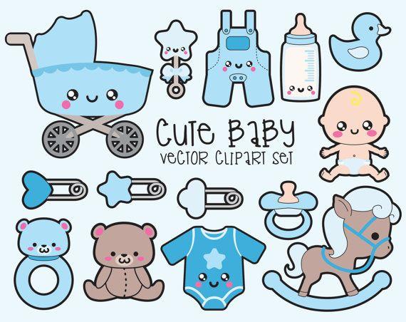 premium vector clipart kawaii baby clipart by looklookprettypaper rh pinterest com au Pass Clip Art Greeting Clip Art