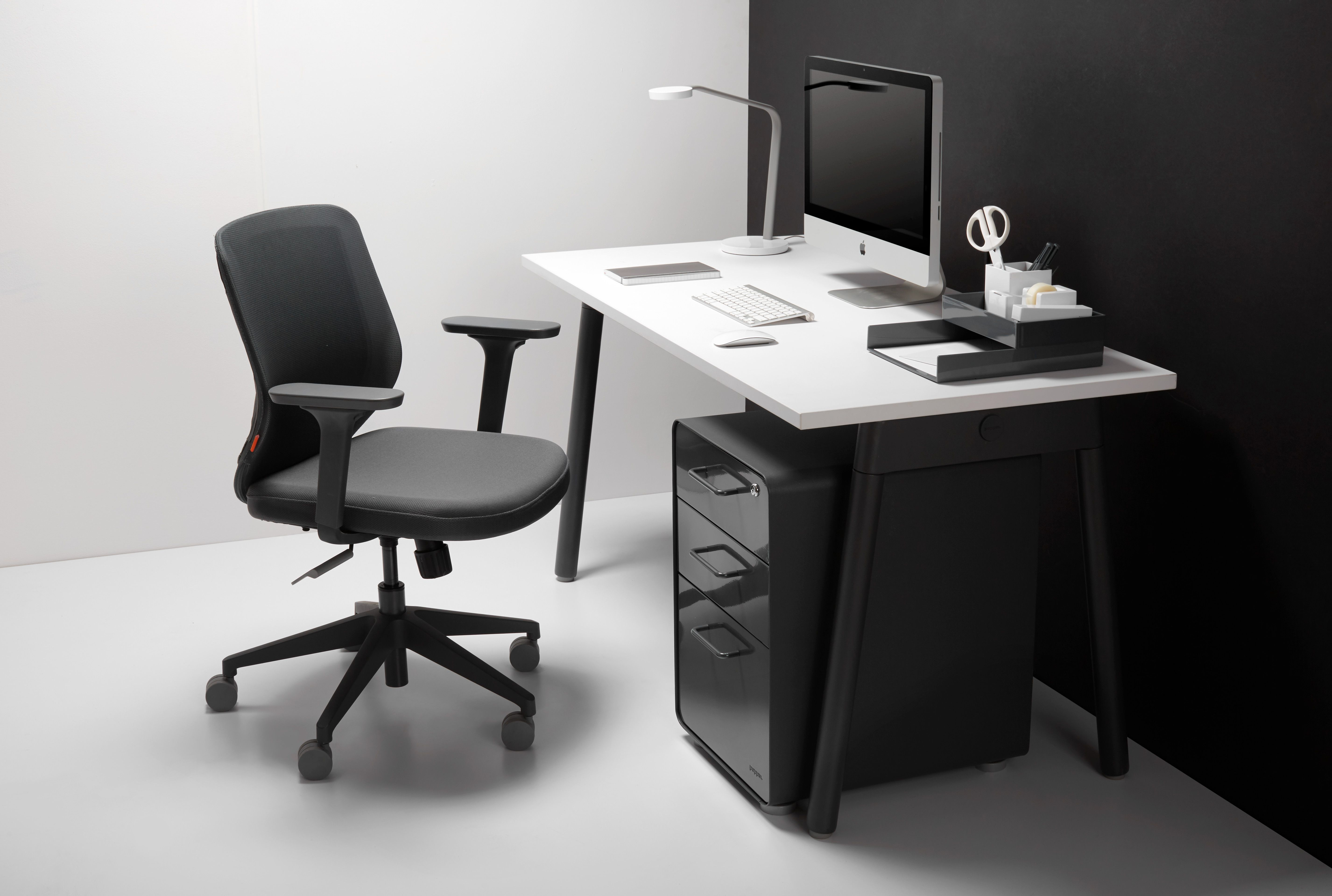 Series A Single Desk For 1 Charcoal Legs Modern Office Furniture