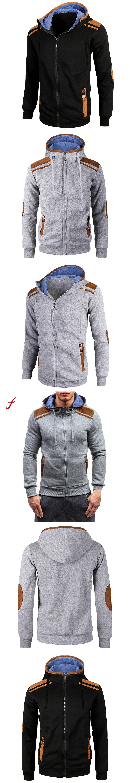 Winter Autumn Men\'s Hoodies Male Hoodie Long Sleeve Zipper Hooded ...