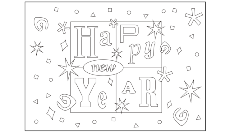 Kid Friendly New Years Games Highlights Your Child You New Year Coloring Pages New Year S Eve Colors Coloring Pages