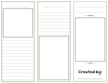 Blank Brochure Templates  History Education