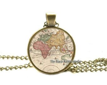 Globe world map jewelry earth map pendant globe art pendant globe world map jewelry earth map pendant globe art pendant world travel adventurer gumiabroncs Choice Image