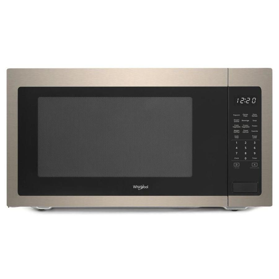 Whirlpool 2 2 Cu Ft 1200 Countertop Microwave Fingerprint Resistant Sunset Bronze Wmc50522hn In 2020 Microwave Countertops Home Depot